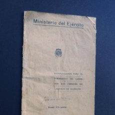 Militaria: MINISTERIO DEL EJERCITO AÑO 1940 / INSTRUCCIONES PARA EL SUMINISTRO DE CARNE / GANADO DEL EJERCITO. Lote 54033575