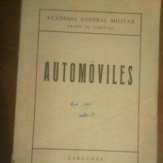 Militaria: ACADEMIA GENERAL MILITAR AUTOMOVILES. Lote 54166452