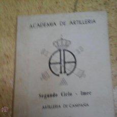 Militaria: ARTILLERIA DE CAMPAÑA TACTICA. Lote 50995427