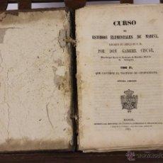 Militaria: 6181 - CURSO DE ESTUDIOS ELEMENTALES DE MARINA. GABRIEL CISCAR. IM. MI. COMERCIO. 1848/1851.. Lote 49299491