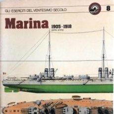 Militaria: LIBRO MARINA 1905 - 1918.. Lote 55047970