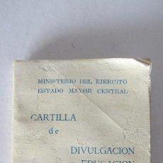 Militaria: LIBRO , CARTILLA DE DIVULGACION Y EDUCACION SANITARIA. Lote 55236518