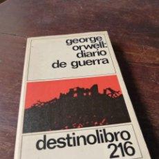 Militaria: DIARIO DE GUERRA - GEORGE ORWELL . Lote 55708021