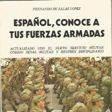 Militaria: ESPAÑOL, CONOCE TUS FUERZAS ARMADAS, MANUAL DEL SOLDADO 1987. Lote 56098905