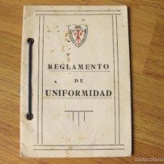 Militaria: REGLAMENTO DE UNIFORMIDAD DEL REGIMIENTO DE CABALLERIA. Lote 56171827