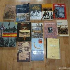 Militaria: LOTE LIBROS GUERRA AFRICA. Lote 56186741