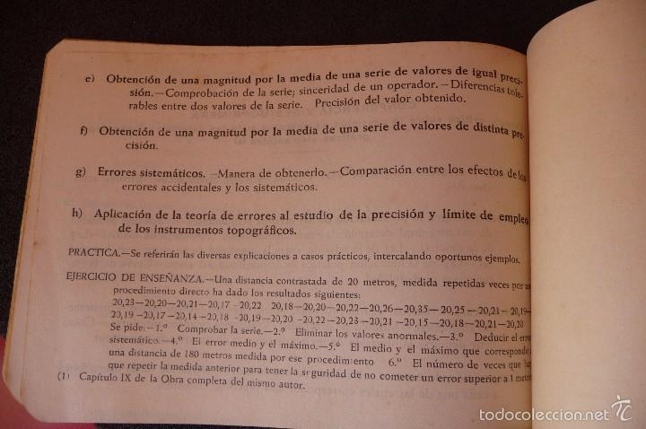 Militaria: (JX-1480)Escuela de Artillería de Campaña , programa de Topografía , GUERRA CIVIL - Foto 4 - 56232900