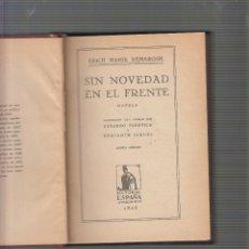 Militaria: SIN NOVEDAD EN EL FRENTE / ERICH MARIA REMARQUE , - EDICION 1929. Lote 56801557