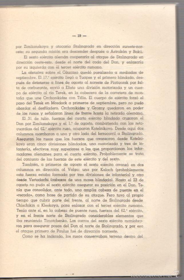 Militaria: LA BATALLA DE STALINGRADO (JULIO 1942-FEBRERO 1943). UNA MANIOBRA DE CERCO. AÑO 1947 - Foto 2 - 56877100