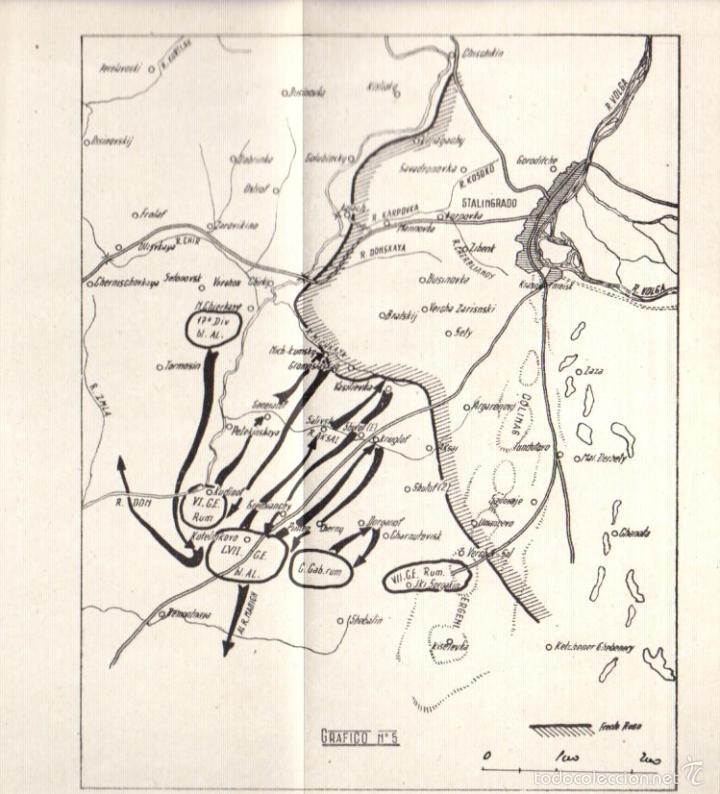 Militaria: LA BATALLA DE STALINGRADO (JULIO 1942-FEBRERO 1943). UNA MANIOBRA DE CERCO. AÑO 1947 - Foto 5 - 56877100