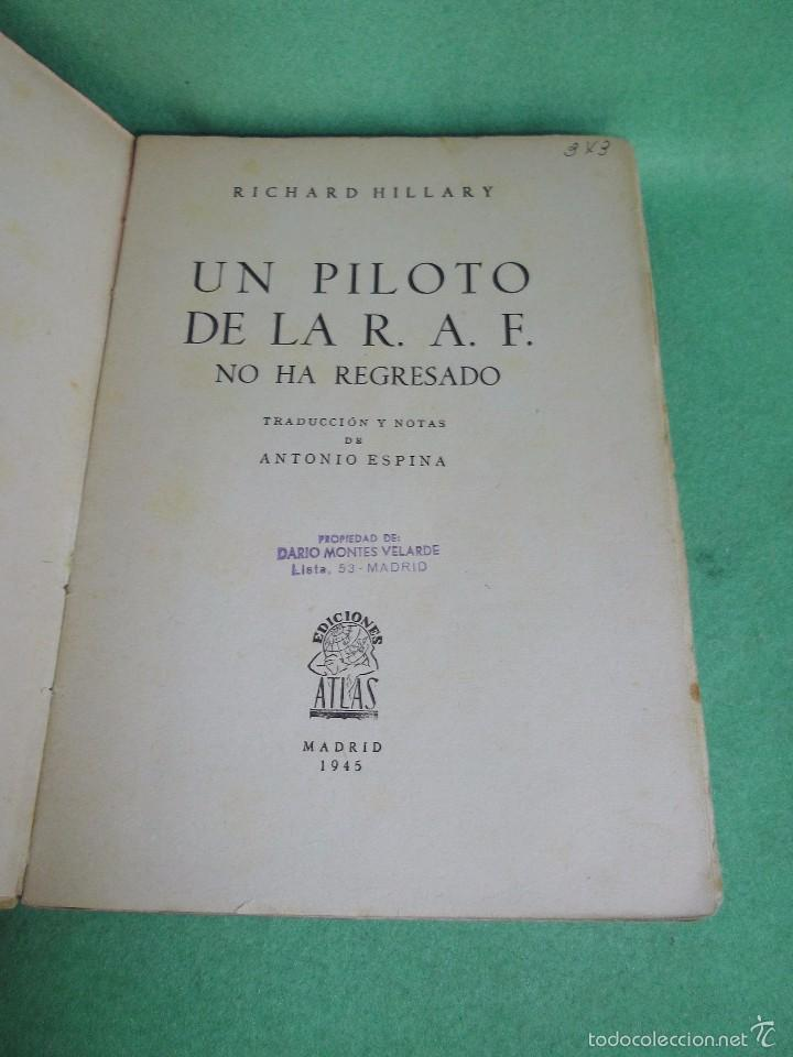 Militaria: DIFICIL LOTE LIBRO PILOTO CAZA ROJO STUKA RAF NO HA REGRESADO COMBATE GUERRA CIVIL WWII BUSCADO - Foto 3 - 56908937