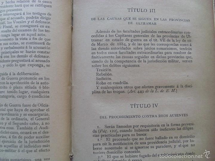 Militaria: CARTILLA DE LA JUSTICIA MILITAR--Javier Ugarte--1887 - Foto 3 - 57208763