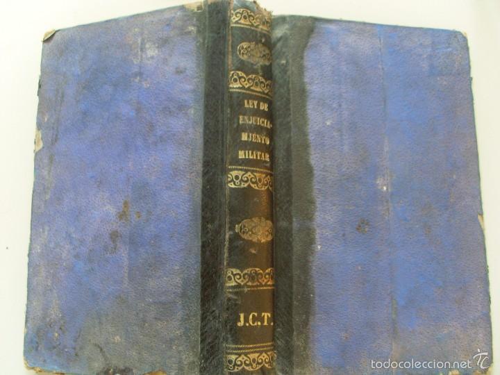 LEY DE ENJUICIAMIENTO MILITAR--HILARIO HIGON--1886 (Militar - Libros y Literatura Militar)