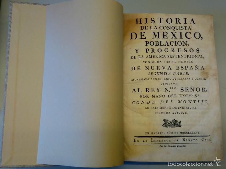 Militaria: LIBRO,HISTORIA DE LA CONQUISTA DE MEXICO,SIGLO XVIII, AÑO 1786,TEMA CONQUISTADORES HERNAN CORTES - Foto 9 - 57236122