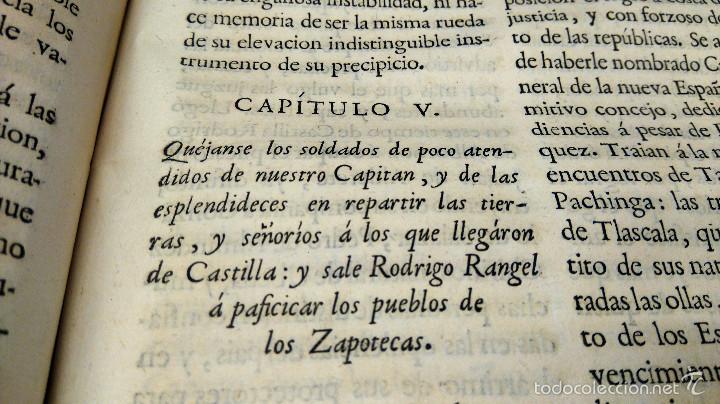 Militaria: LIBRO,HISTORIA DE LA CONQUISTA DE MEXICO,SIGLO XVIII, AÑO 1786,TEMA CONQUISTADORES HERNAN CORTES - Foto 12 - 57236122