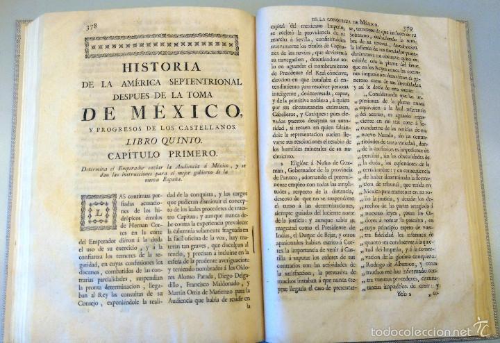 Militaria: LIBRO,HISTORIA DE LA CONQUISTA DE MEXICO,SIGLO XVIII, AÑO 1786,TEMA CONQUISTADORES HERNAN CORTES - Foto 15 - 57236122