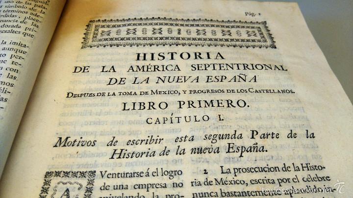 LIBRO,HISTORIA DE LA CONQUISTA DE MEXICO,SIGLO XVIII, AÑO 1786,TEMA CONQUISTADORES HERNAN CORTES (Militar - Libros y Literatura Militar)
