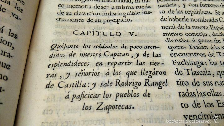 Militaria: LIBRO,HISTORIA DE LA CONQUISTA DE MEXICO,SIGLO XVIII, AÑO 1786,TEMA CONQUISTADORES HERNAN CORTES - Foto 19 - 57236122
