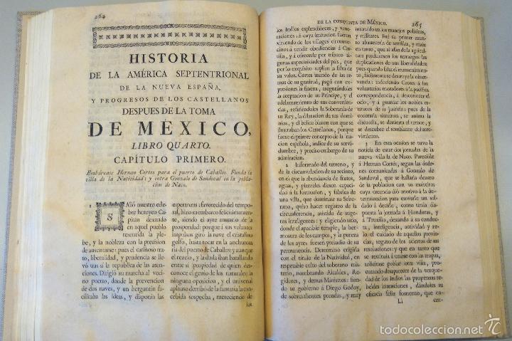 Militaria: LIBRO,HISTORIA DE LA CONQUISTA DE MEXICO,SIGLO XVIII, AÑO 1786,TEMA CONQUISTADORES HERNAN CORTES - Foto 20 - 57236122
