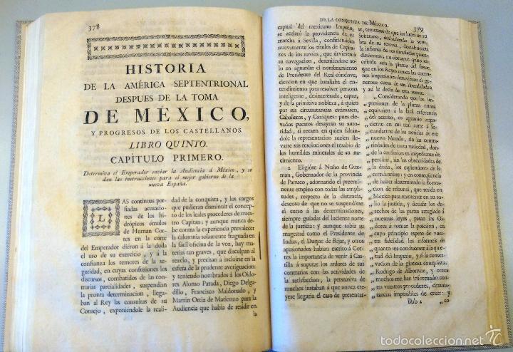 Militaria: LIBRO,HISTORIA DE LA CONQUISTA DE MEXICO,SIGLO XVIII, AÑO 1786,TEMA CONQUISTADORES HERNAN CORTES - Foto 21 - 57236122