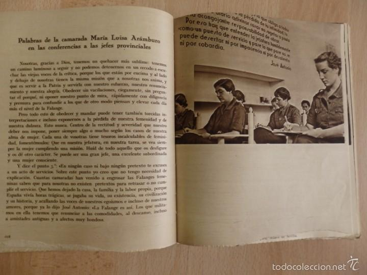 Militaria: SECCIÓN FEMENINA DE LA FALANGE ESPAÑOLA TRADICIONALISTA Y DE LAS J.O.N.S. ( AÑOS 1940 ) - Foto 5 - 57395671
