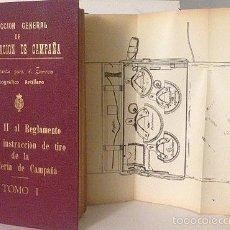 Militaria: REGLAMENTO PARA LA INSTRUCCIÓN DE TIRO DE LA ARTILLERÍA DE CAMPAÑA. 1927. (144 FIGURAS) MILITAR. Lote 57519405