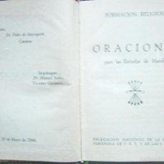 Militaria: FORMACIÓN RELIGIOSA ORACIONES PARA LAS ESCUELAS DE MANDOS - 1944 - TAPA DURA. Lote 57713788