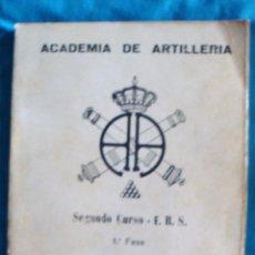 Militaria: ACADEMIA DE ARTILLERÍA 2º CURSO E. B. S. 1ª FASE TOPOGRAFÍA 1975. Lote 57771783