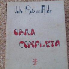 Militaria: LIBRO. OBRA COMPLETA. JULIO RUIZ DE ALDA. EDICIONES FE, 1939. Lote 57832745
