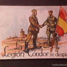 Militaria: (JX-1710)LA LEGIÓN CÓNDOR SE DESPIDE . ARTES GRÁFICAS ALDUS. SANTANDER.AÑO 1939. Lote 57848217