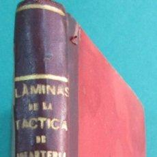 Militaria: 2 LIBROS EN 1. LÁMINAS DE LOS DIFERENTES MOVIMIENTOS TÁCTICOS... CORUÑA 1899.. Lote 57864640