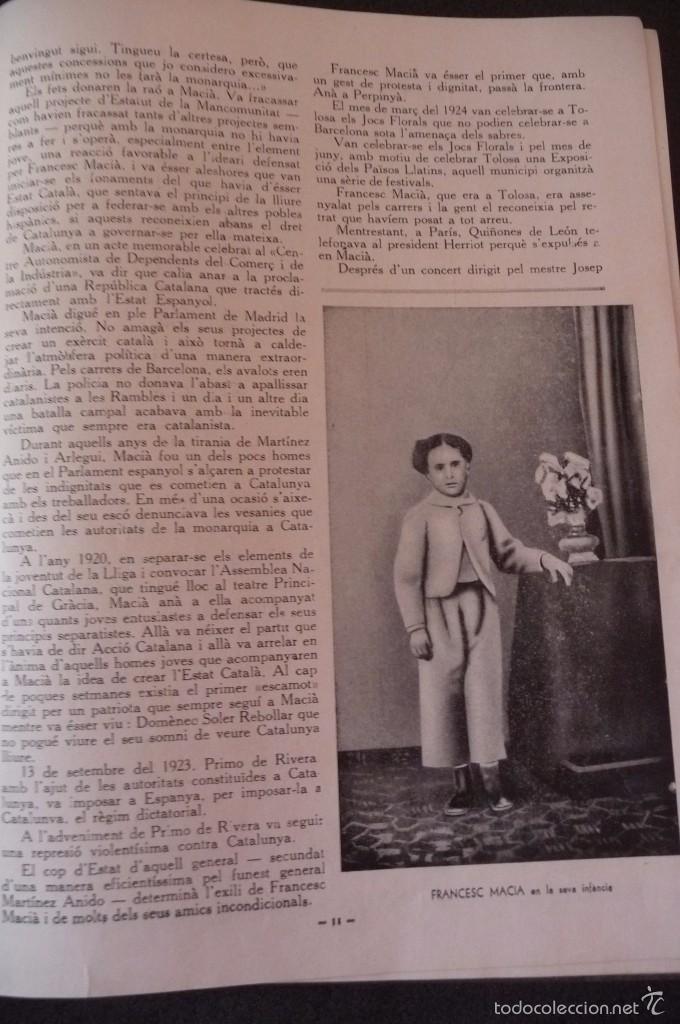 Militaria: (JX-1803)ALBUM RECORD FRANCESC MACIA-ANY 1934-GRAFIQUES RIBERA-BARCELONA 1934-MUY ILUSTRADO-VER FOTO - Foto 4 - 58360860