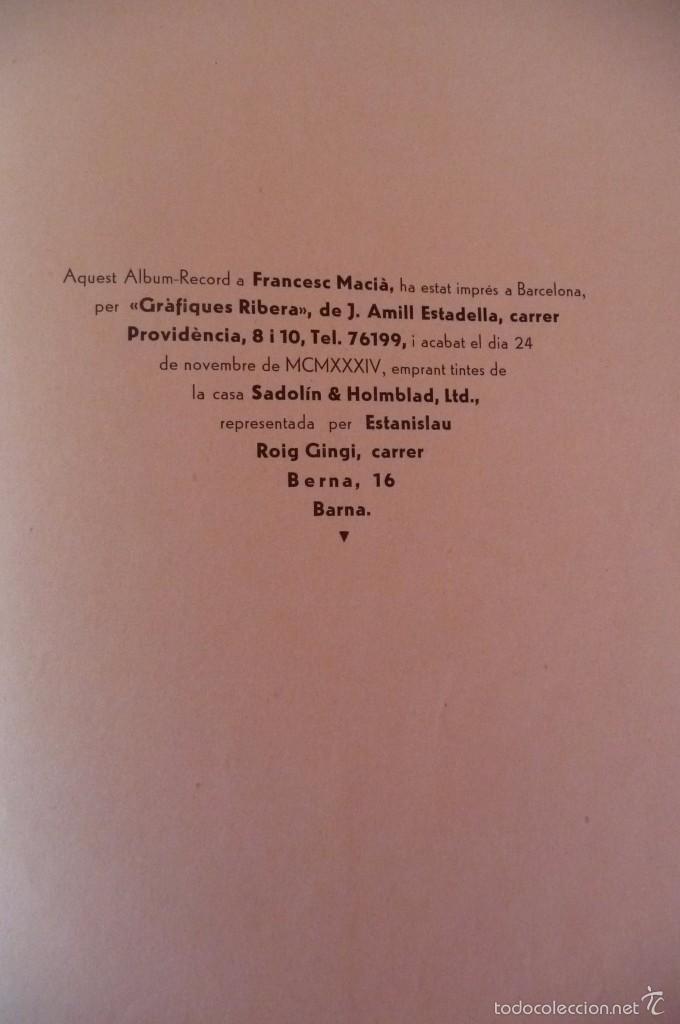 Militaria: (JX-1803)ALBUM RECORD FRANCESC MACIA-ANY 1934-GRAFIQUES RIBERA-BARCELONA 1934-MUY ILUSTRADO-VER FOTO - Foto 8 - 58360860