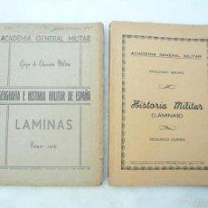Militaria: ACADEMIA GENERAL MILITAR HISTORIA MILITAR LÁMINAS PRIMER Y SEGUNDO CURSO 1952-1954. Lote 58441295