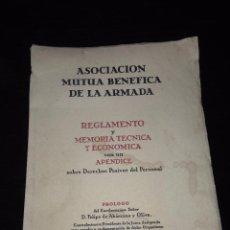 Militaria: ASOCIACION MUTUA BENEFICA DE LA ARMADA AÑO 1949. Lote 58657290