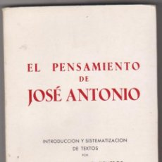 Militaria: EL PENSAMIENTO DE JOSÉ ANTONIO. AGUSTÍN DEL RÍO CISNEROS. EDICIONES DEL MOVIMIENTO 1968.. Lote 59750340