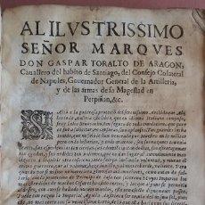 Militaria: AÑO 1639 CARGOS Y PRECEPTOS MILITARES PARA SALIR FAMOSO Y VALIENTE SOLDADO * LELIO BRANCACCIO 280 PG. Lote 60160907