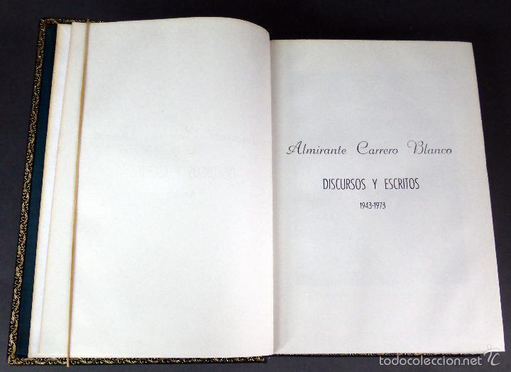 Militaria: Discursos y escritos Almirante Carrero Blanco 1943 - 1973 Inst Estudios Políticos 1974 - Foto 3 - 60423319