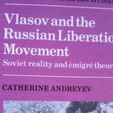 Militaria: VLASOV AND THE RUSSIAN LIBERATION MOVEMENT. Lote 60930083