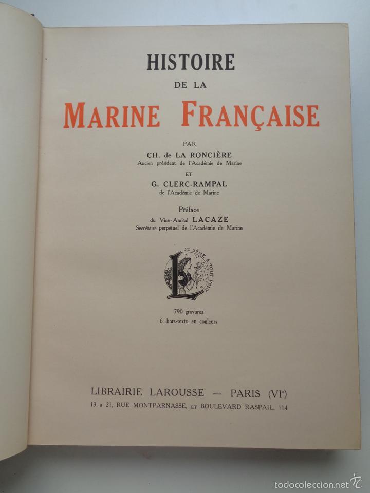 Militaria: HISTOIRE DE LA MARINE FRANCAISE.M0718 - Foto 4 - 61249219