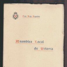 Militaria: CRUZ ROJA ESPAÑOLA.ASAMBLEA LOCAL DE VITORIA.AÑOS 20.. Lote 61319747