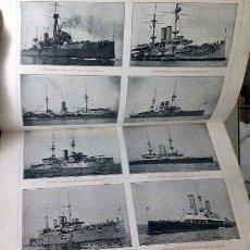 Militaria: ACORAZADOS (ESPASA SEPA) CATÁLOGO GRÁFICO COMPLETO DE TODOS LOS ACORAZADOS A PRINCIPIOS DE 1908.. Lote 61674408