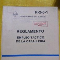 Militaria: REGLAMENTO EMPLEO TACTICO DE LA CABALLERIA, SERVICIO GEOGRAFICO DEL EJERCITO, 1986. Lote 61701772