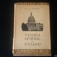 Militaria: LIBRO SOBRE LA TEORÍA GENERAL DEL ESTADO. MILITAR. POLITICO. GUERRA. FALANGE. FRANQUISTA.. Lote 62074266