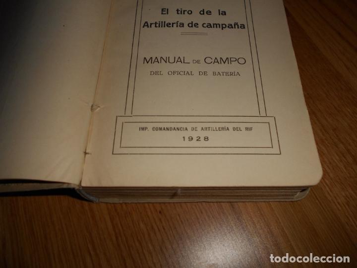 Militaria: Manual de tiro. F. Puertas primera edición 1928 específicamente para comandancia del RIF AFRICA - Foto 7 - 62259228