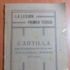 Militaria: CARTILLA PARA LA ORG. DE SERVICIOS DE ARBITRAJE Y SIMULACION DE FUEGOS. LA LEGIÓN, PRIMER TERCIO. Lote 47088050