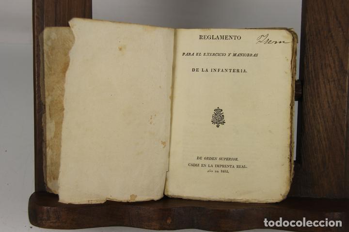 4900- REGLAMENTO PARA EL EXERCICIO Y MANIOBRAS DE LA INFANTERIA. VV.AA. IMP. REAL. 1812. (Militar - Libros y Literatura Militar)