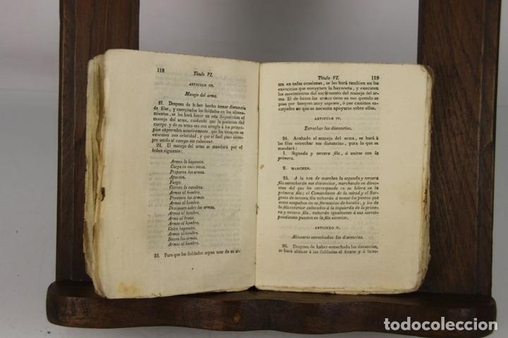 Militaria: 4900- REGLAMENTO PARA EL EXERCICIO Y MANIOBRAS DE LA INFANTERIA. VV.AA. IMP. REAL. 1812. - Foto 3 - 43941492