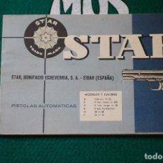 Militaria: MANUAL DE USUARIO DE PISTOLA STAR MOD. SI, S, A, B, M Y P. GUARDIA CIVIL. ULTIMA UNIDAD. Lote 64630935