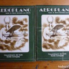 Militaria: AEROPLANO. REVISTA DE HISTORIA AERONAUTICA. JUNIO 1983 Nº 1. . Lote 64816911